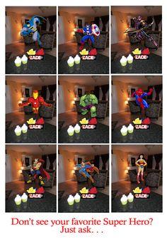 "DIY 12"" Small Superhero Birthday Party Centerpieces with FREE Supply Kit baby shower wonder woman batman spiderman superman Super Hero."