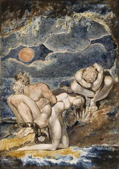 Frontispiece to 'Visions of the Daughters of Albion' c.1795 William Blake 1757-1827 Purchased with the assistance of a special grant from the National Gallery and donations from the Art Fund, Lord Duveen and others, and presented through the the Art Fund 1919 http://www.tate.org.uk/art/work/N03373