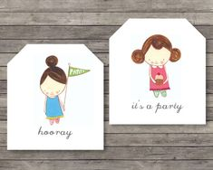 birthday party gift tag printable