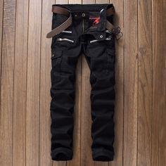 >> Click to Buy << New Arrival High Quality Moto Black Motorcycle Rap Denim Biker jeans Men Skinny NEW slim elastic jeans hip hop Washed man pant #Affiliate
