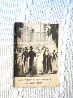 Vintage set of cards The illustrations for the by VintageUSSRshop