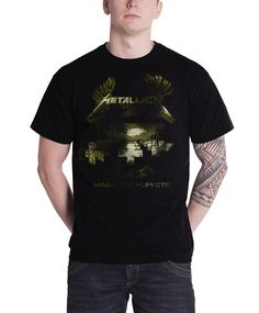 Metallica T Shirt Master of Puppets Distressed Mens Black - Paradiso Clothing