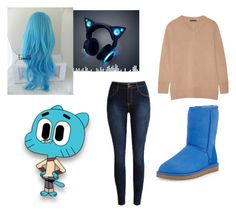 """""""Amazing world of gumball. Gumball"""" by anime-fairytail ❤ liked on Polyvore featuring The Row, UGG Australia, women's clothing, women, female, woman, misses and juniors"""