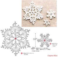 схемы снежинок крючком - Поиск в Google