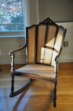 Ordinaire Boston: Cane Back Rocking Chair