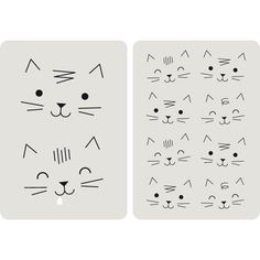 Lot de 2 Cartes Chats - Zu Plus