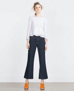 Image 1 of FRILLED POPLIN TOP from Zara