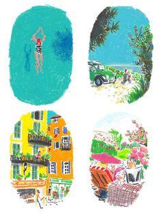 Artist Damien Cuypers at Illustration Division 오일파스텔, 풍경, 색감