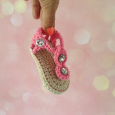 Gladiator style crochet Baby Shoes Sandals Flip by Plumalicious, €12.99