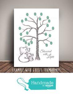 Elephant Mom and Baby Thumb Print Baby Shower Guest Book Thumbprint Birch Tree, Elephant Nursery, Fingerprint Tree, Elephant Baby Shower Fine Art Print from Melissa Wynne Designs https://www.amazon.com/dp/B01N2SVNNN/ref=hnd_sw_r_pi_awdo_LiNwyb58QZT4B #handmadeatamazon