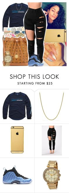 """Untitled #1572"" by msixo ❤ liked on Polyvore featuring Hollister Co., David Yurman, Goldgenie, NIKE and Michael Kors"
