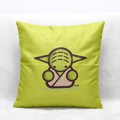 Star Wars Yoda Cushion Cover by QuirkyHomeUK on Etsy