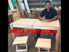 (681) MESA PORTAFOLIO DE MADERA - YouTube Diy Furniture Videos, Camping, Ping Pong Table, Bedroom Storage, Youtube, Pinball, Home Decor, Fold Away Desk, Pallets