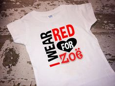Personalized I Wear Red For ------Warrior CHD Awareness Shirt