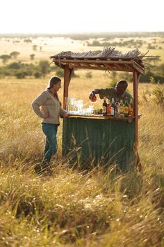 And there is not only food, there is also G&T's. What a great little drink shack at Singita Explorer Lodge in the Serengeti in Tanzania. YUM. Timbuktu Travel