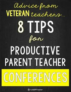 Parent Teacher Conferences: 8 Tips for Successful & Productive Parent Teacher Conferences.  Good advice as fall conferences are just around the corner!
