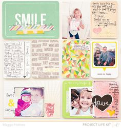 Smile - Project Life Page {Studio Calico March Kits}