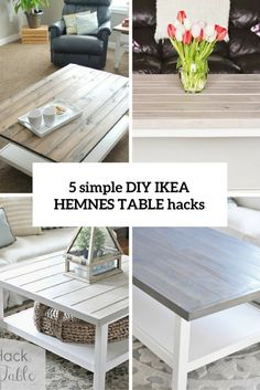 IKEA is famous for its simple yet stylish creations, which just say, 'Personalize me! Today we are going to have a look at IKEA Hemnes coffee tables. Ikea Hemnes Coffee Table, Coffee Table Hacks, Ikea Table Hack, Diy Table, Coffee Ideas, Coffee Tables, Diy Furniture Redo, Deco Nature, Diy Home Decor Bedroom