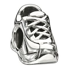 Sneaker    Be fit and fashionable with the Sneaker bead. The laced sterling silver sneaker has detailed engraving that lets you sprint ahead of the pack.