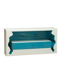 POLaRT InsideOut Media Unit InsideOut Media Unit: Contemporary TV console with an inversed negative space design Measurements: W x D x H Material: Polyurethane, rebar Care: Wipe with a damp cloth Brand: POLaRT Origin: Imported Home Furniture, Furniture Design, Furniture Ideas, Hipster Home, Media Unit, My Ideal Home, Decoration, Home Goods, The Unit
