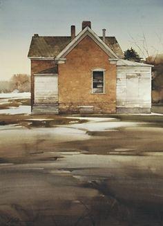 "Last of Winter by Joseph Alleman Watercolor ~ 30"" x 22"""