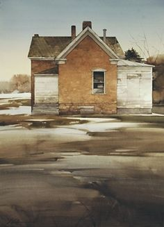 "Last of Winter by Joseph Alleman Watercolor ~ 30"" x 22"""