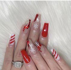 Holiday Nail Designs, Holiday Nails, Christmas Nails, Nail Art Designs, New Year's Nails, Gel Nails, Acrylic Nails, Manicure, Daily Nail