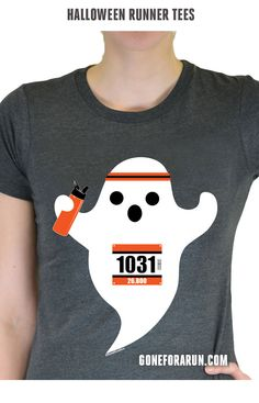 Faster than casper - halloween ghost running tee!