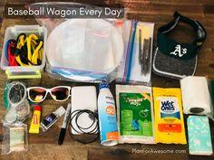 Baseball Mom Wagon: The Ultimate List of Things to Bring on Game Day Softball Crafts, Softball Bows, Softball Shirts, Softball Catcher, Softball Players, Girls Softball, Baseball First, Baseball Boys, Baseball Games
