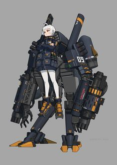 Female Character Design, Character Design Inspiration, Character Concept, Character Art, Robot Concept Art, Weapon Concept Art, Android Art, Cyberpunk Character, Robot Girl