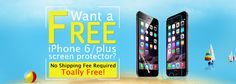Get a totally free iPphone 6/iPhone 6 plus screen protector on Malloom.com
