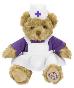 Our newest member of staff is looking forward to meeting you!  This beautiful, handmade teddy bear has been lovingly designed for Great Ormond Street Hospital Children's Charity.  Showing her support for the hospital with our logo stitched into her paw.