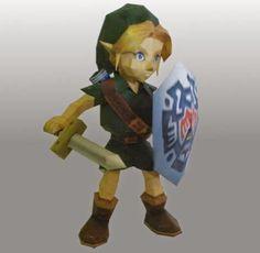 PAPERMAU: The Legend of Zelda: Majora's Mask - Link Paper Model - by Sabidiet`s Papercraft