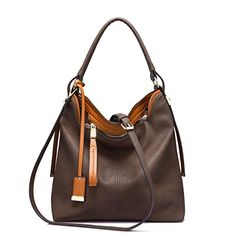 Buy Handbag Hobos Tote Shoulder Bags for Women Large Capacity Messenger Bag Purse - Coffee - and More Fashion Bags at Affordable Prices. Hobo Handbags, Chanel Handbags, Purses And Handbags, Hobo Purses, Ladies Handbags, Designer Handbags, Leather Hobo Bags, Leather Totes, Large Shoulder Bags