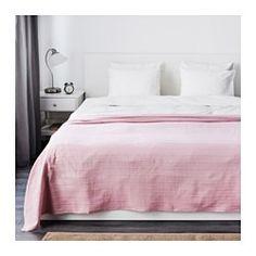 IKEA - FABRINA, Sengetæppe, 250x250 cm, , De tykke tråde, der er vævet ind i bomuldsstoffet, gi'r sengetæppet en levende struktur.