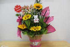 FU #21 Một mẫu hoa dành cho ngày sinh nhật cực ấn tượng với điểm nhấn là những bông hoa mặt trời. Gía: 300,000đ