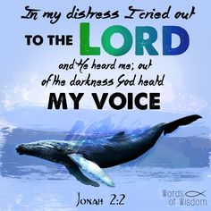 Jonah 2 2 in my distress i cried out to the lord and he heard me out