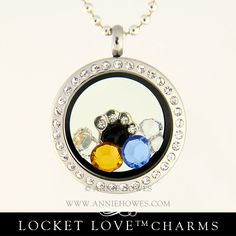 Locket Love™ 25mm with 2 Focal Crystals and Paw Charm. www.anniehowes.com