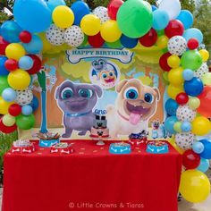Fiesta de Puppy dog pals party - decoracion de puppy dog pals