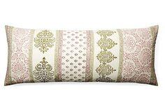 Jiti Ramyana 16x40 Pillow, Pink on OneKingsLane.com