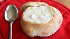 Easy bread bowls with soup...a perfect dinner for the night before Thanksgiving.