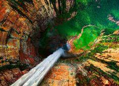 Angels Falls, Venezuela . salto Angel.