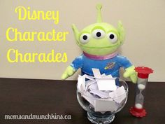 Disney Charades--so good for a movie night activity to switch up the usual stuff! :)