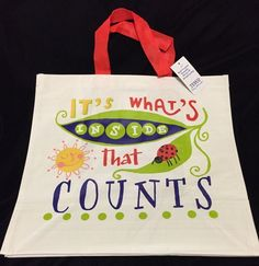 68858569fc64 Tesco It s What s Inside That Counts Bag Ladybug Sun Eco Reuse Gift Shop  Tote