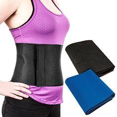 Proworks Neoprene Slimming Belt Sauna Body Wrap Waist Fat Burner - Black >>> Visit the image link more details.
