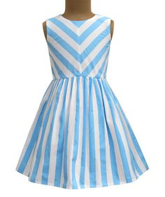 Another great find on #zulily! Columbus Cloud Stripe Shanaya Dress - Infant, Toddler & Girls #zulilyfinds