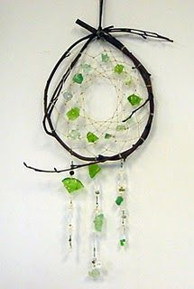 Beach Glass Dream Catchers