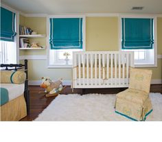 Probably one of my favorite nurseries OF.ALL.TIME. LOVE this color palette! #baby #teal #nursery