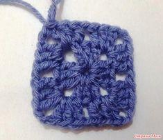 Tığ İşi Kare Motif Yapımı Anlatımlı - Mimuu.com Pixel Crochet, Afghan Crochet, Eminem, Sewing Crafts, Diy And Crafts, Beanie, Knitting, Hats, Pattern