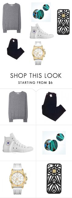 """""""Tony's outfit for Breakfast"""" by laurenn-08 ❤ liked on Polyvore featuring Equipment, Urban Outfitters, Converse, Bulova and Hervé Léger"""